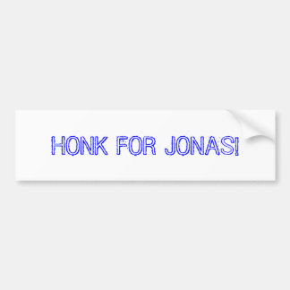 HONK FOR JONAS! BUMPER STICKER