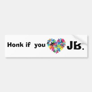 Honk if  you <3 jb bumper sticker