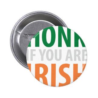 honk if you are irish pin