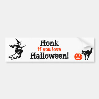 Honk if you love Halloween! Car Bumper Sticker