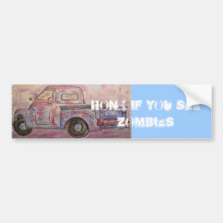 honk if you see zombies bumper sticker