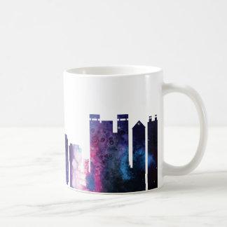 Honolulu city skyline silhouette coffee mug