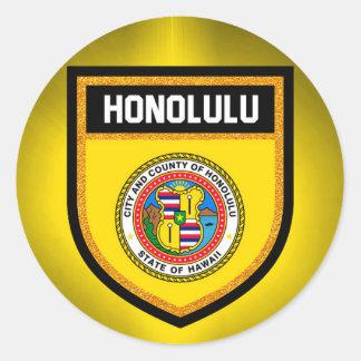 Honolulu Flag Classic Round Sticker