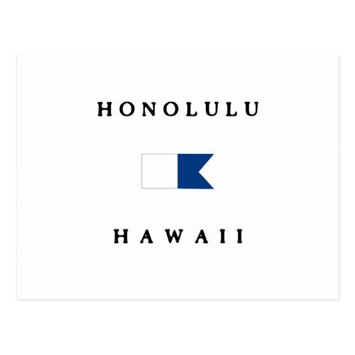 Honolulu Hawaii Alpha Dive Flag Post Cards