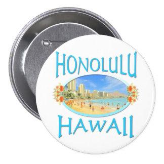 Honolulu Hawaii Pinback Buttons