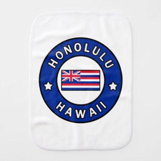 Honolulu Hawaii Burp Cloth