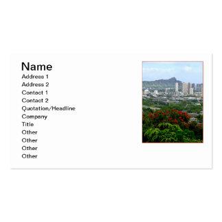 Honolulu, Hawaii Business Card Templates