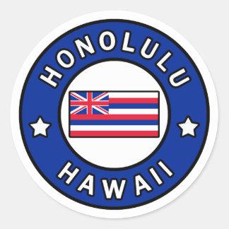 Honolulu Hawaii Classic Round Sticker