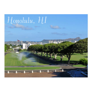 Honolulu Hawaii Diamond Head Punchbowl Crater Postcard