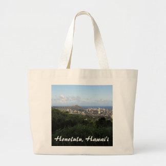 Honolulu, Hawaii Large Tote Bag