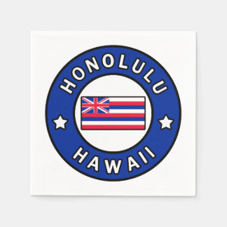 Honolulu Hawaii Paper Serviettes