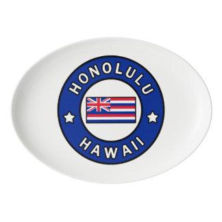 Honolulu Hawaii Porcelain Serving Platter