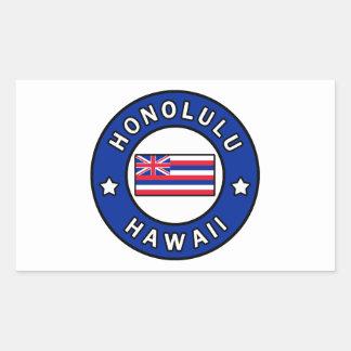 Honolulu Hawaii Rectangular Sticker