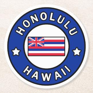 Honolulu Hawaii Round Paper Coaster