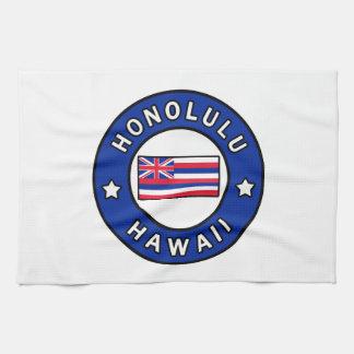 Honolulu Hawaii Tea Towel
