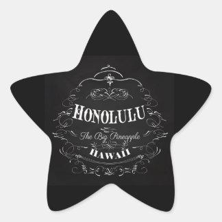 Honolulu, Hawaii - The Big Pineapple Star Sticker