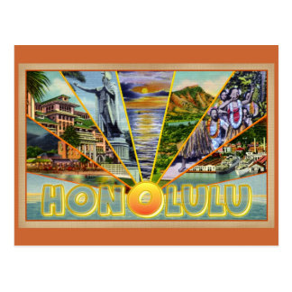 Honolulu Hawaii vintage postcard