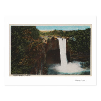 Honolulu, HI - View of Rainbow Falls Postcard