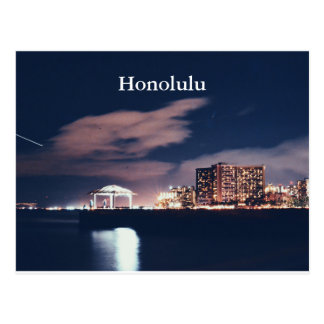 HONOLULU NIGHT POSTCARD
