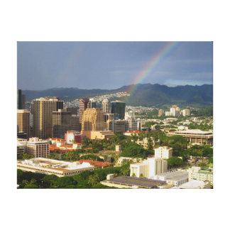 Honolulu Rainbow Canvas Print