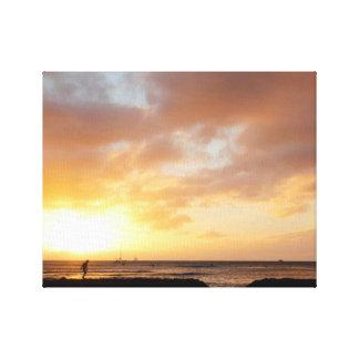 Honolulu Sun Set Canvas Print