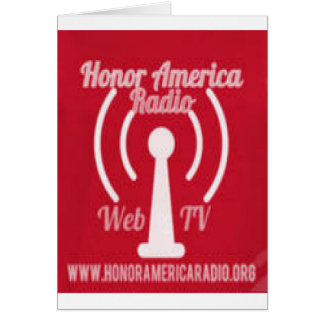 Honor America Radio/ Web TV Promo Irems Card