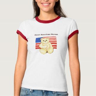 Honor American Heroes Teddy Bear T-shirt