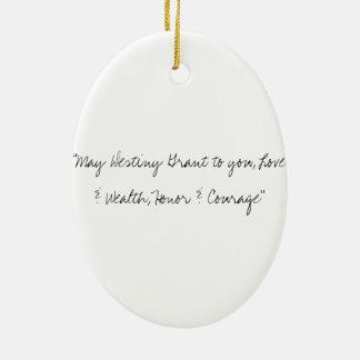 Honor & Courage Ceramic Ornament