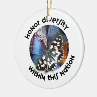 Honor Diversity Within This Nation Round Ceramic Decoration
