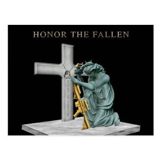 Honor our Fallen heroes Postcard