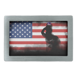 Honor Our Heroes On Memorial Day Rectangular Belt Buckle