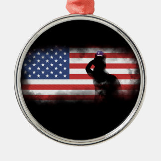 Honor Our Heroes On Memorial Day Silver-Colored Round Decoration