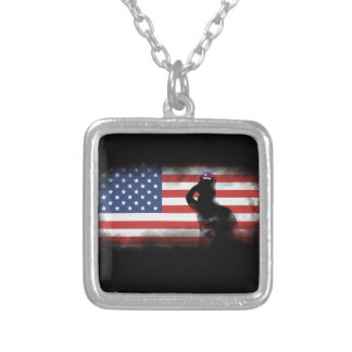 Honor Our Heroes On Memorial Day Silver Plated Necklace