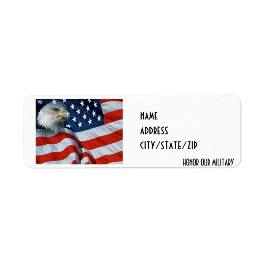 """""""HONOR OUR MILITARY"""" ADDRESS LABEL"""
