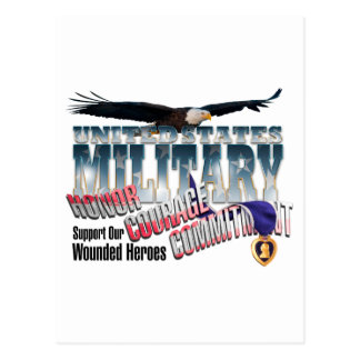 Honor our Military Heroes Postcard