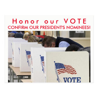 Honor our Vote Postcards