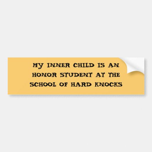 Honor Student - an Inner Child bumper sticker