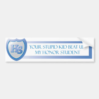 Honor Student Bumper Sticker with a Twist