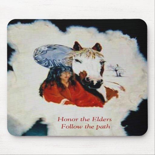Honor the Elders Mousepad
