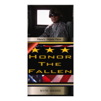Honor the Fallen Custom Military Tribute Photo Greeting Card