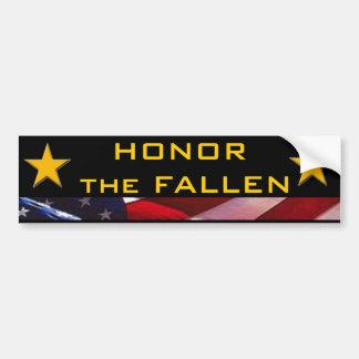 Honor the Fallen Heroes Bumper Sticker