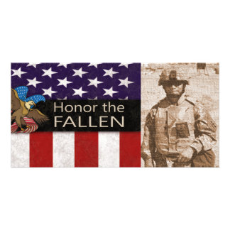 Honor the Fallen Military Photo Card Template