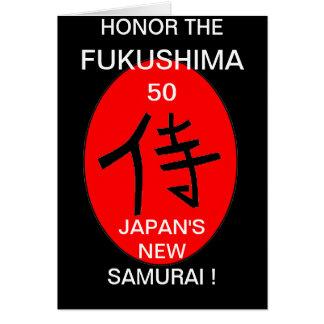 HONOR THE FUKUSHIMA 50 CARD