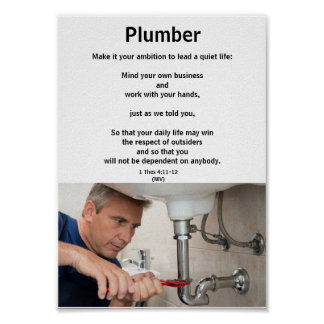 Honor the trades series-PLUMBER-1-career education Poster