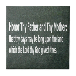 Honor Thy Father and Thy Mother Tile