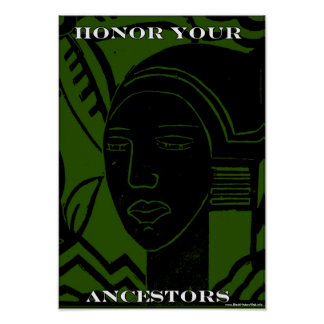 Honor Your African & African American Ancestors Poster