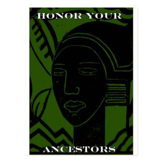 """HONOR YOUR ANCESTORS"" POSTCARD"