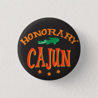 Honorary Cajun with Alligator 3 Cm Round Badge