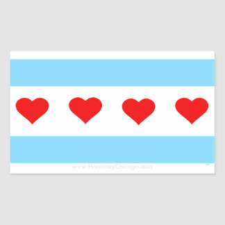 Honorary Chicago Heart Flag Stickers