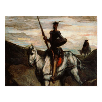 Honore Daumier - Don Quixote in the Mountains Postcard